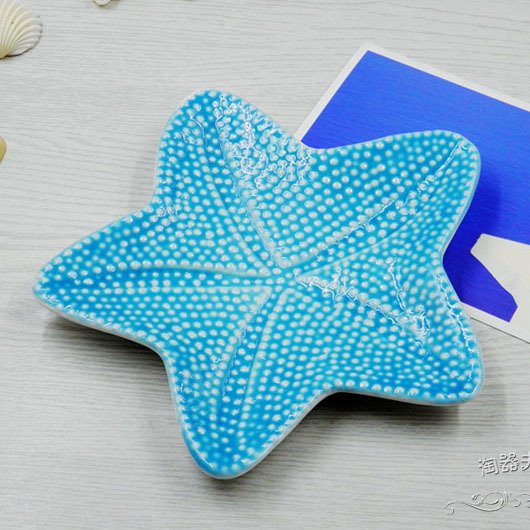 Ceramic Starfish Plates Porcelain Crafts Plates For Snacks Candy Creative Storage Home Decoration Accessories Good Gifts & Ceramic Starfish Plates Porcelain Crafts Plates For Snacks Candy ...