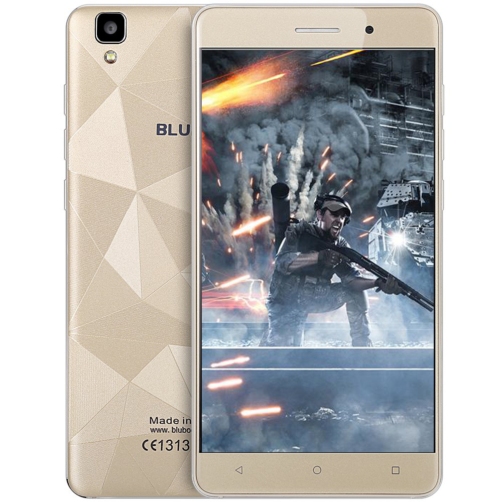Bluboo Maya Android 6.0 smartphone 5.5 pulgadas HD 3G MT6580 Quad Core teléfono móvil 1.3 GHz 2G + 16G 13MP cámara trasera de la Cámara 3000 mAh