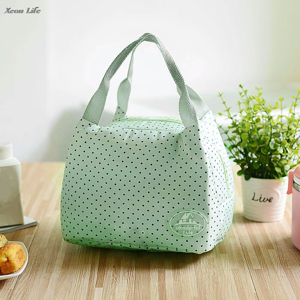 23.5cmX17cmX15.5cm Portable Lunch Bag Tote Picnic Insulated Cooler Zipper Organizer Lunch Box Tote Storage Bag Picnic Container