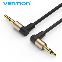Vention 3.5mm Audio cable Male 3.5 Jack to Jack 90 Degree Aux Cable for car iphone 7 smartphone Headphone Computer Speaker cable(China)