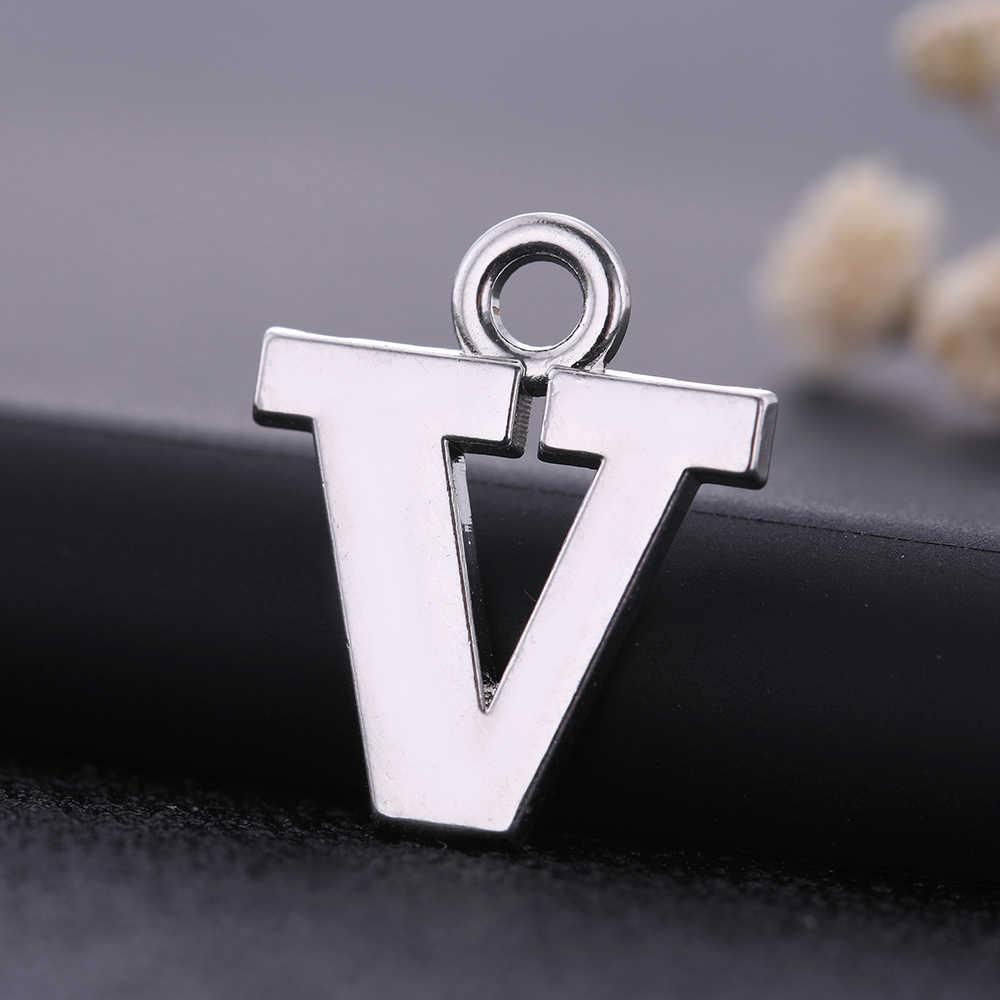 Skyrim 26 буквы Полированные Подвески ювелирные изделия изготовление аксессуаров DIY браслет ожерелье Подвески с буквами Алфавит N O P Q R S U V W Y Z