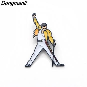P3392 Dongmanli Freddie Mercury emalia szpilki i broszki dla kobiet mężczyzn przypinka plecak torby kapelusz odznaka prezenty tanie i dobre opinie Ze stopu cynku Rysunek Unisex TRENDY Metal