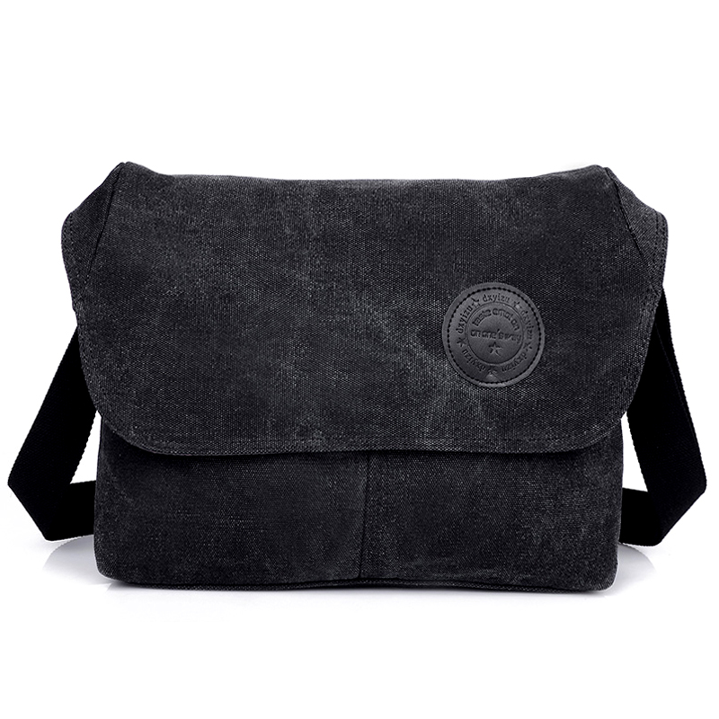 New Canvas Men Messenger Väskor Kvalitet Män Resväska Klassisk Man Shoulder Crossbody Väska Svart 31 * 10 * 23 CM