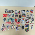 40pcs/Bag Non-Repeated Skateboard Brands & Cartoons Stickers Offset Print Matte Film Skate Stickers Travel Case Stickers