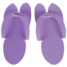 12 Pair Disposable Slippers For Pedicure Salon Foot Spas Soft Flip Flop Foam Slipper(China)