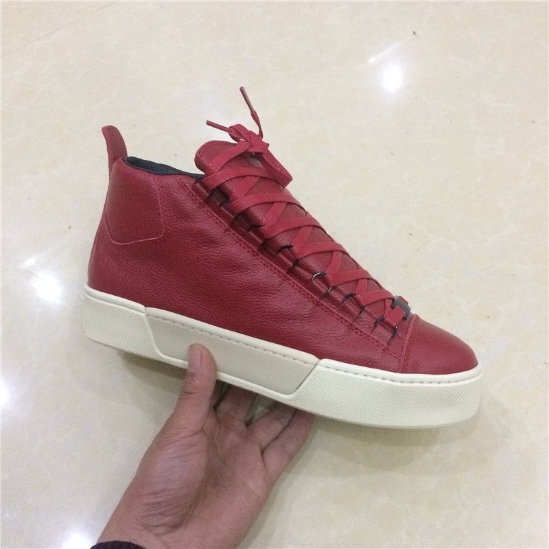 2019 luxury designer thick bottom men shoes 100% genuine leather high top red green leather men casual shoes flats shoes 38-462019 luxury designer thick bottom men shoes 100% genuine leather high top red green leather men casual shoes flats shoes 38-46