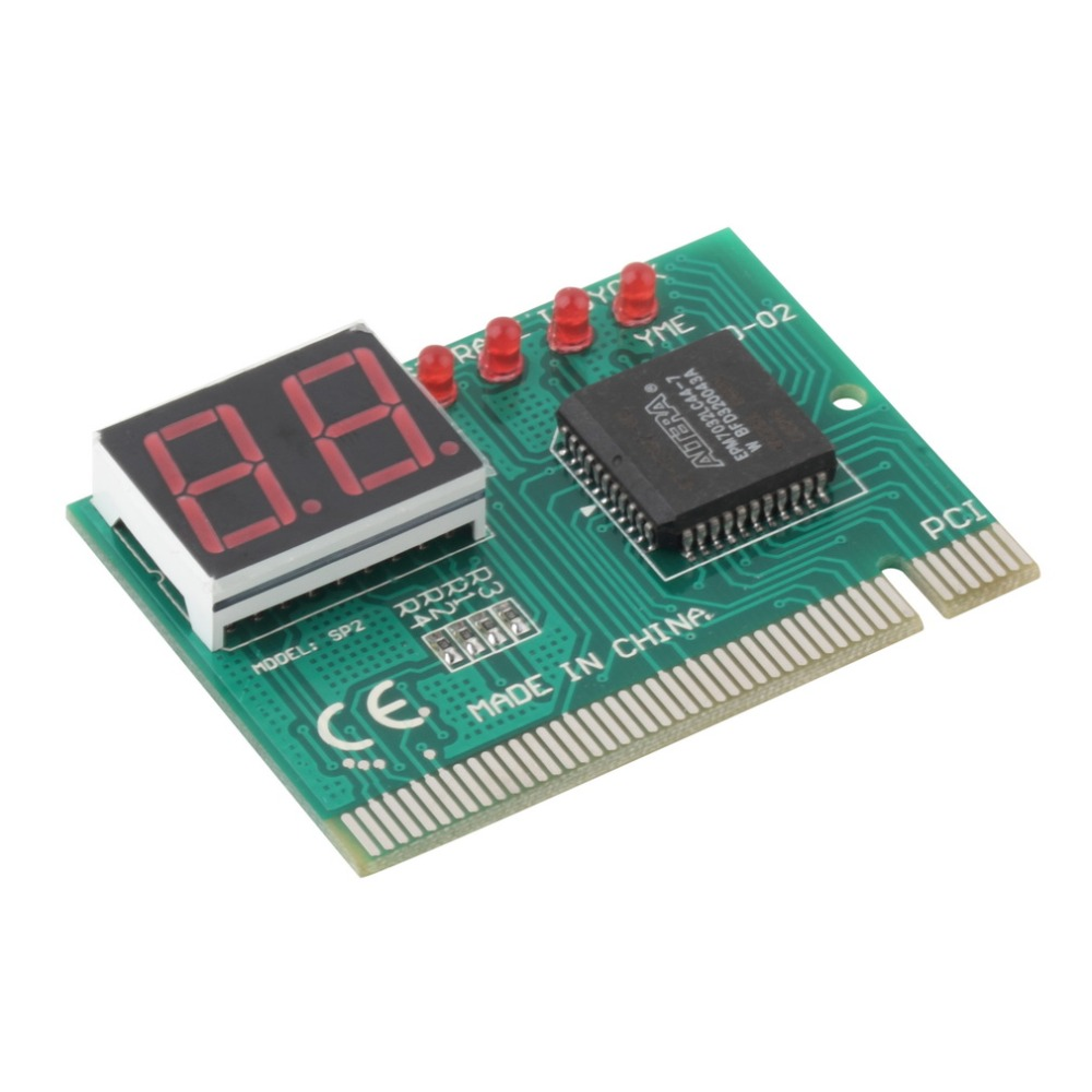 PCI PC Diagnostic 2-Digit Card Motherboard Post Tester Analyzer Checker Laptop computer main board fault error analyzer tester diagnostic card module w pci interface lcd screen