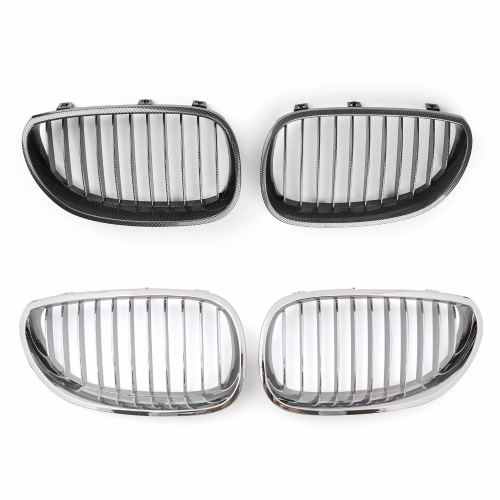 Areyourshop Car Front Kidney Grill Mesh Grille For BMW E60 E61 5 Series M5 2003-2009 1Pair Car Auto Styling Covers Grille цена
