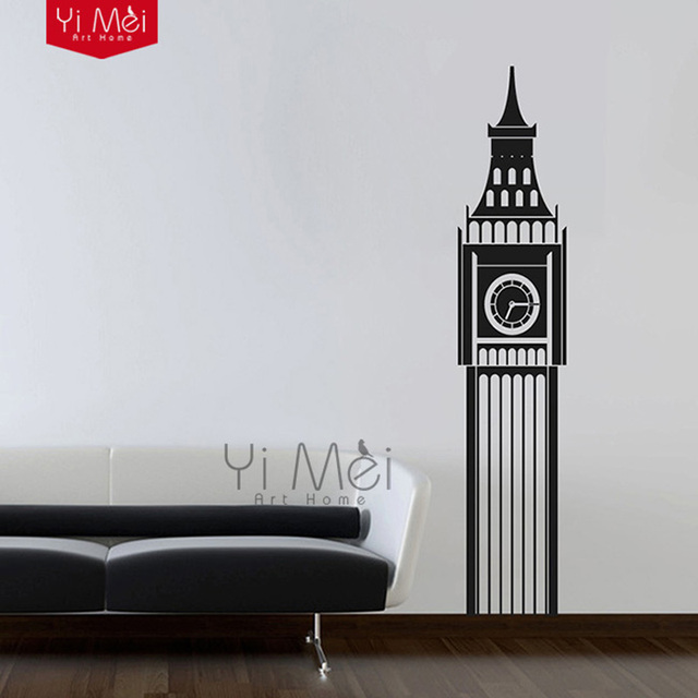 England Building Big Ben Clock Vinyl Wall Art Sticker Decal Mural Wallpaper Living Room Nursery Bedroom & England Building Big Ben Clock Vinyl Wall Art Sticker Decal Mural ...