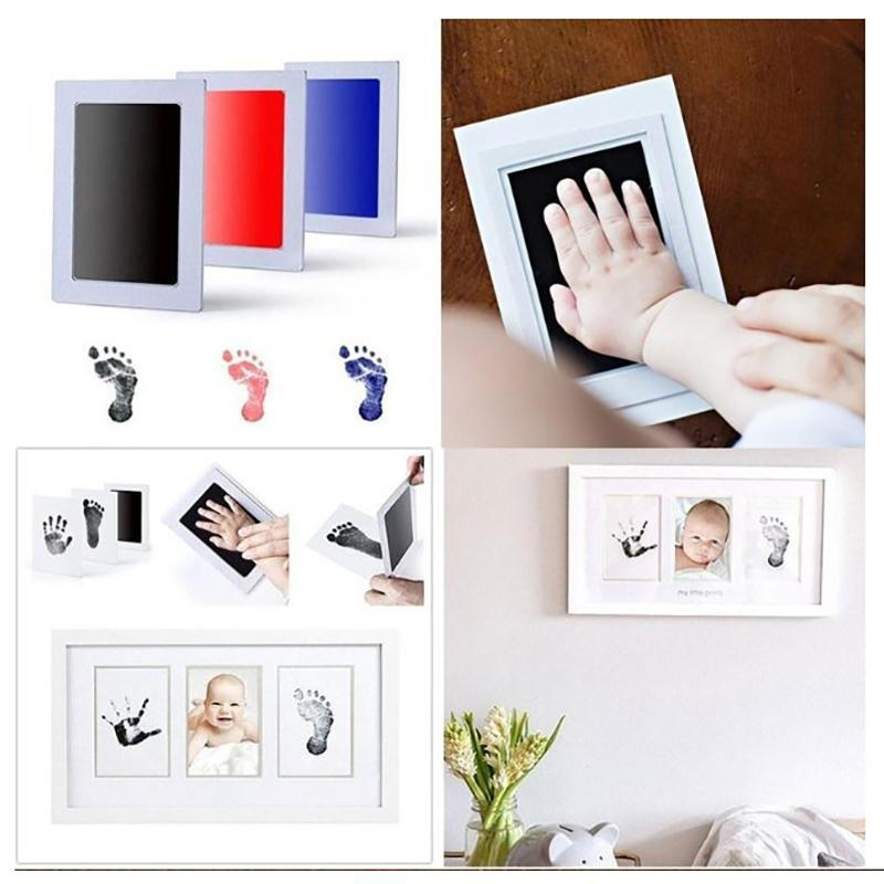 New Infant Hand Foot Print Pad Newborn Baby Handprint Footprint Pad Safe Clean Non-toxic Diy Touch Ink Pad Photo Infant Gifts B2