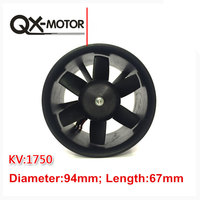 QX Motor 90mm 6 Blades Ducted Fan EDF Unit With 3530 KV1750 Motor 6S Version For RC Airplane Model Plane Parts