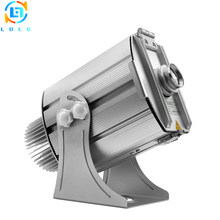 Aluminum Alloy Silver Outdoor Advertising Four Images 40W LED Gobo Projector IP65 4500Lumens LED Image Logo Projector with Gobos(China)