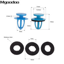 Mgoodoo 50Pcs Car Fasteners Clip Universal Auto Weatherstrip Retainer Blue Plastic Fit For Most Of Cars
