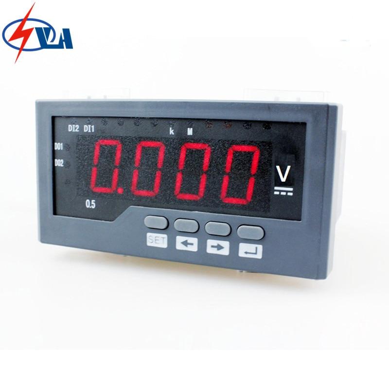 DV41 LED display frame size 60*120 mm black and white single-phase digital voltage meter Digital Only for electric car