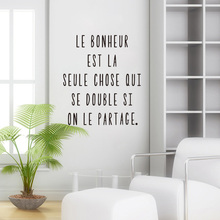 Stickers Le-bonheur-est-a-seule-chose Wall Decal Mural Art Wallpaper Living Room Home Decor Happiness Quote House Decoration