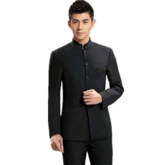 De moda de los hombres trajes de trajes para hombres 3 unidades Mao traje  chino vestido 0593912a114