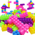 46 Pcs Building Blocks City DIY Creative Bricks Toys Child Educational Building Block Bricks Training Toys Kids Gift Board Game