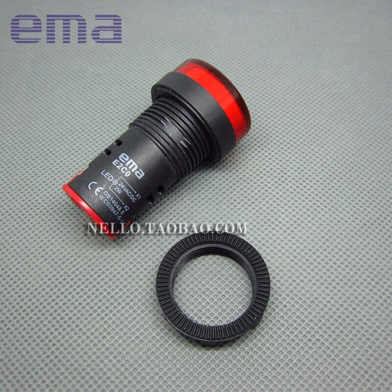 [SA] EMA интегрированный индикатор кнопочный переключатель 22 мм E2C0* L E2C0 R/G/B/W/Y 3/4/5 л светодиодный DC24V AC110/220 V-20 шт./лот