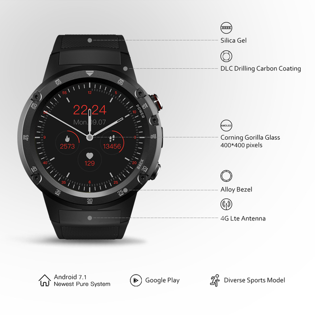 THOR 4 Plus 4G Global Bands SmartWatch GPS/GLONASS android watch Quad Core Offline Music Smart Assistant Smart Watch Men