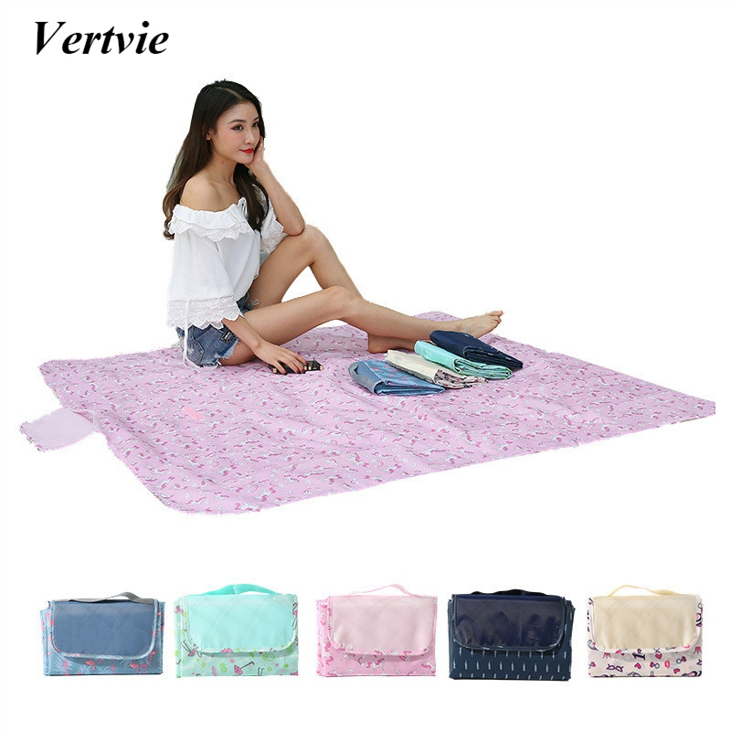 Vertvie Outdoor Folding Camping Mat Widen Beach Picnic Mat Waterproof Plaid Tourist Mat Blanket Sleeping Camping Pad Blanket New high quality barbecue camping equipment matelas gonflable tourist tent mat sleeping blanket beach mat yoga pad