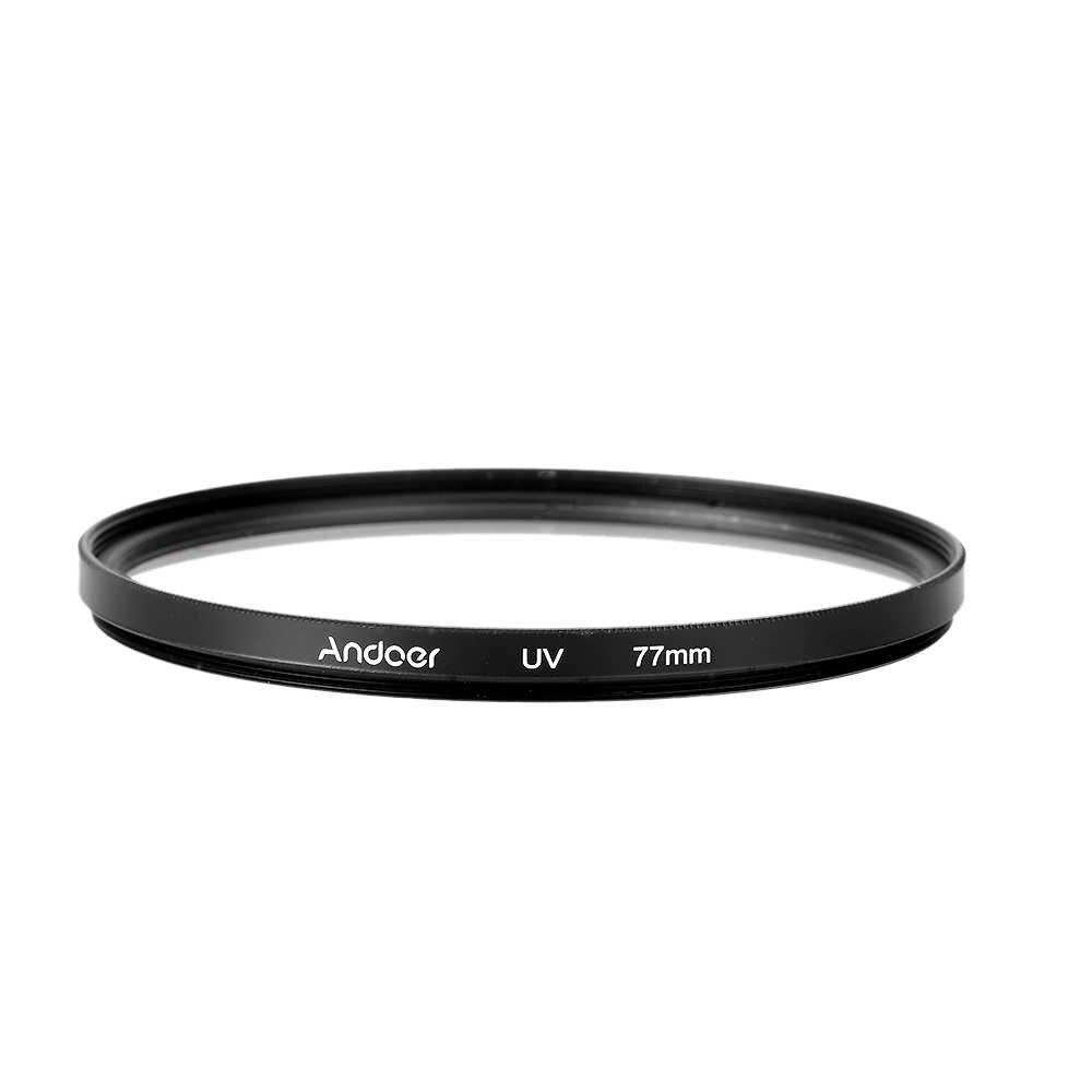 Andoer 77mm UV + CPL + ND8 filtre kiti için Nikon Canon Pentax Sony DSLR Kamera Dairesel Polarize Filtre ND8 nötr Yoğunluk Filtresi