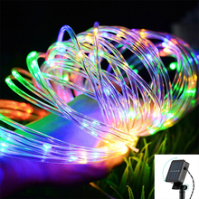 New 100 LEDs Solar Lights Outdoor Waterproof Copper Wire LED Garland String Fairy Christmas Tree Wedding Party Decoration