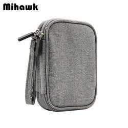 Mihawk модные однотонные цифровой посылка для мужчин's дорожные аксессуары кабель для передачи данных зарядное устройство сумк товары