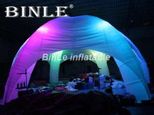 цена Most popular 6 legs giant inflatable dome tent with led lights inflatable spider dome igloo tent for events and wedding в интернет-магазинах