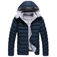 Бесплатная доставка Лучшие продажи новых Горячая парка с капюшоном для мужчин Повседневная теплая зимняя куртка, пальто для мужчин M/L/XL/XXL /...