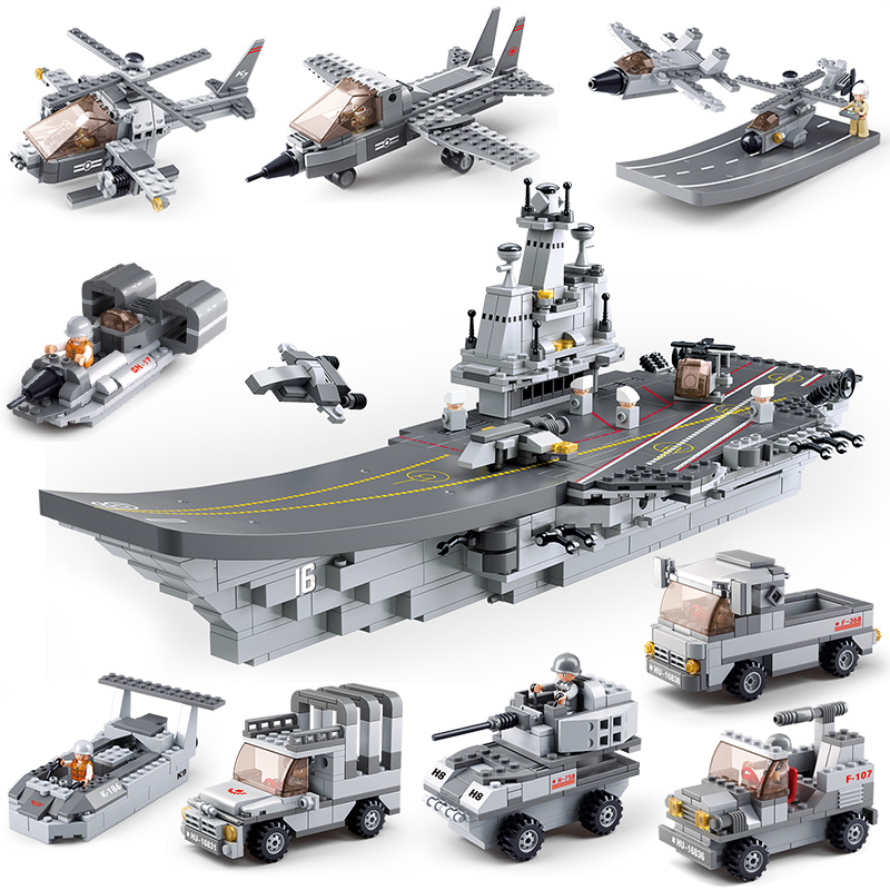 0537A 1001pcs Warship Constructor Model Kit Blocks Compatible sluban Bricks Toys for Boys Girls Children Modeling