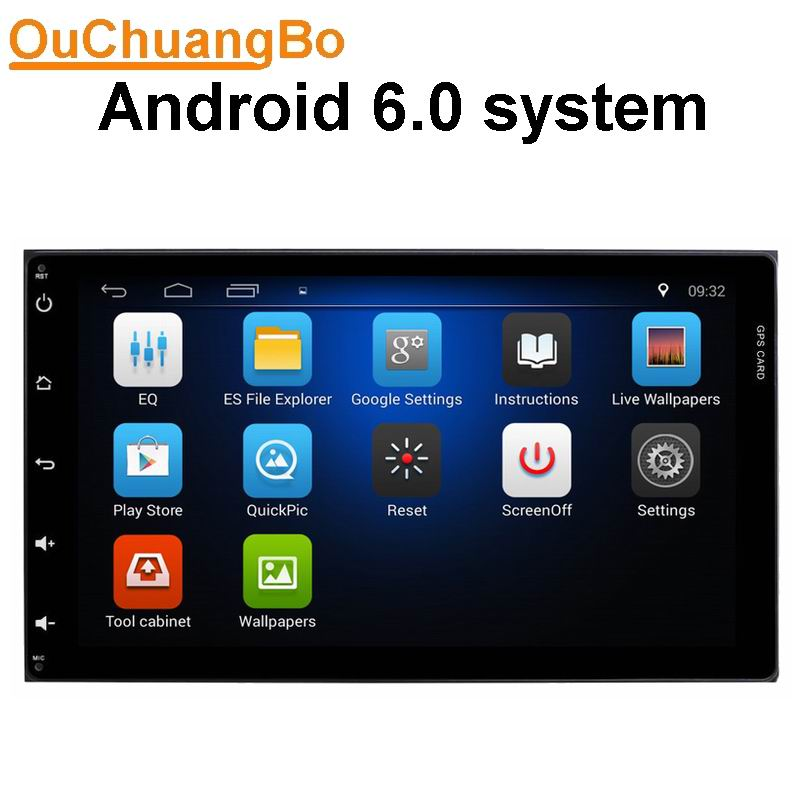 Ouchuangbo car audio gps radio for Toyota Senna 2015 support BT aux steering wheel control android 6.0