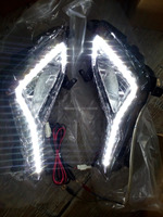 LED DRL Daytime Running Light For Hyundai Elantra 2014 With Fog Lamp Bulb And Reflector House