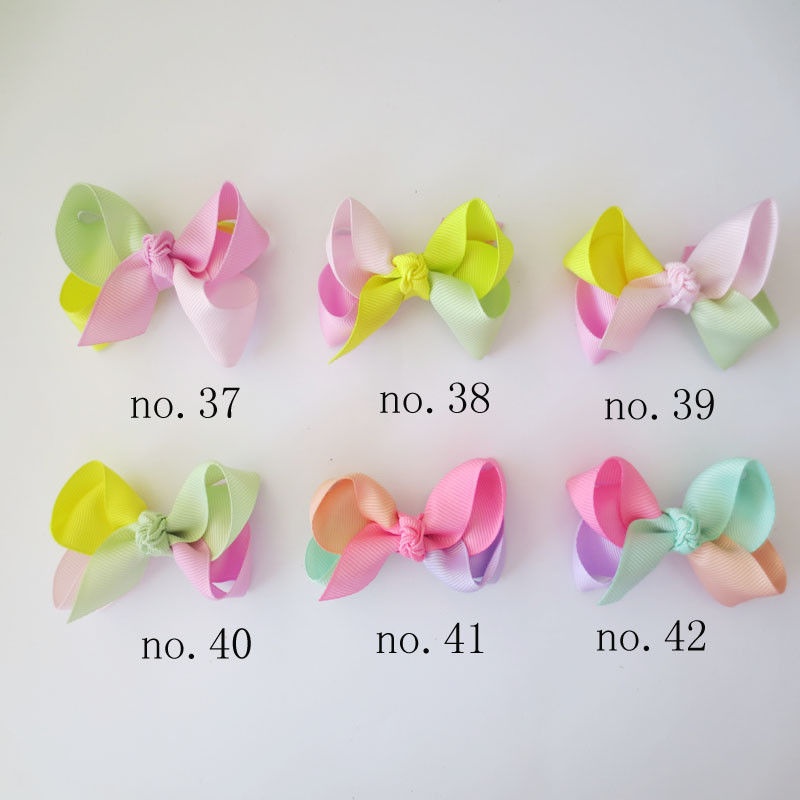 "100 BLESSING Girl 2.5/"" Colorful ABC Halloween Christmas Hairbow Clip Accessories"