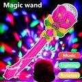 Caliente venta Classic super agradable de la lámpara de proyección, Light Up de los juguetes, varita mágica, brillante proyección musical juguetes, luces de bengala, envío gratis
