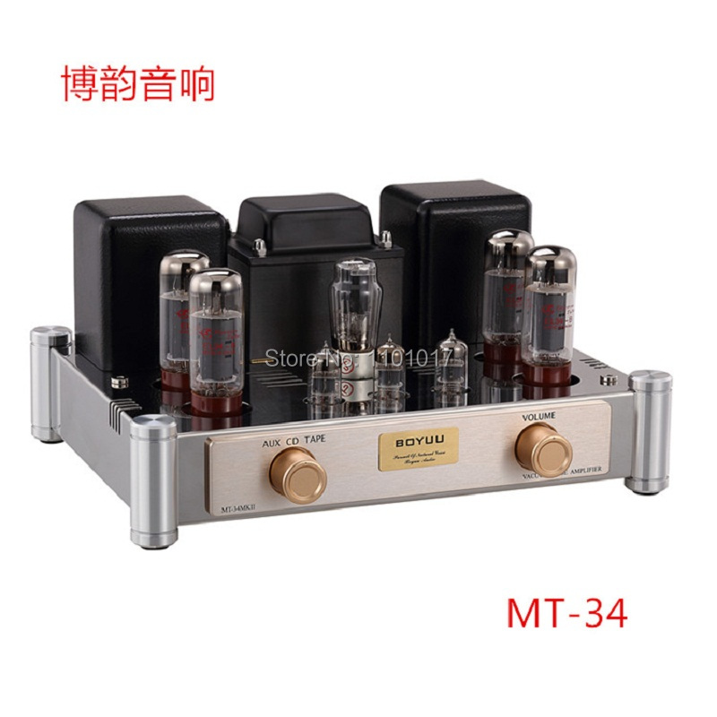 Reisong Boyuu MT 34 EL34 Push Pull Tube Amplifier HIFI EXQUIS 6CA7 Lamp amp BYMT34
