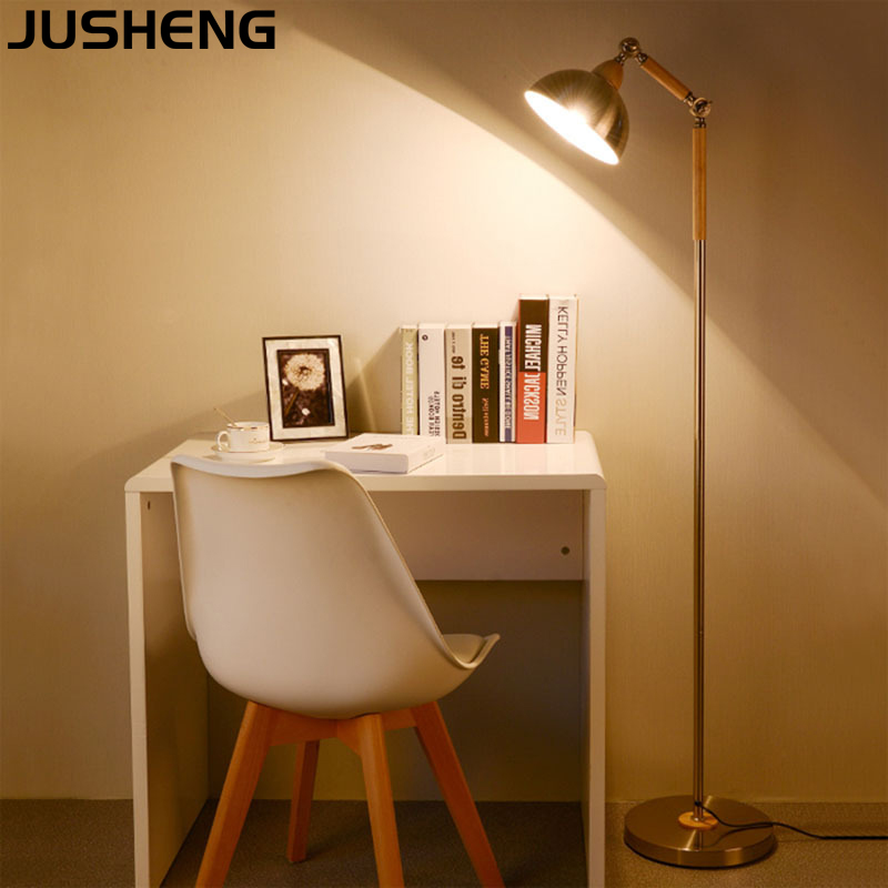 Modern Silver Metal Floor lamp for Living Room with E27 Socket used as Nordic Desk lamp Indoor 100-265V AC