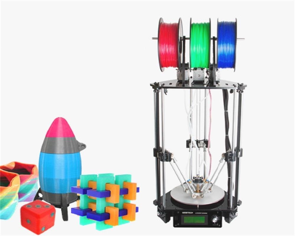 Bricolage 3D imprimante haute précision 3-en-1-sortie extrudeuse Rostock 301 métal avec 3 M Filament GTM32 Pro carte de commande 3d drucker
