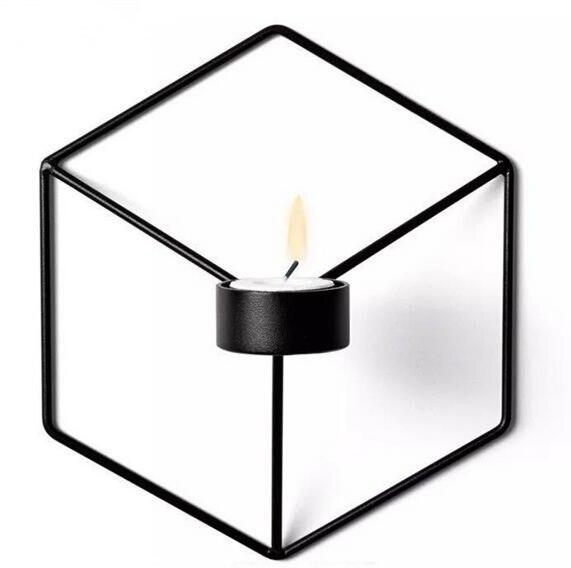 Визуальный touch Nordic Стиль 3D геометрический Подсвечник металл настенный подсвечник б ...