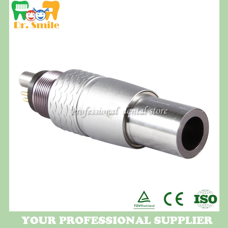NSK fiber optic adaptor 6 holes Dental NSK Ti-MAX handpiece 6-Pin Fiber Optic LED COUPLING Coupler куплю e турбинный наконечник nsk