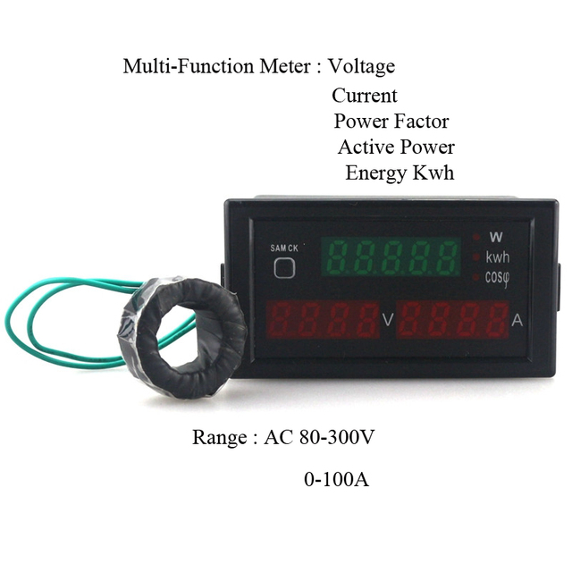 Multi Functional LED Display Panel Meter Voltmeter Ammeter with ...