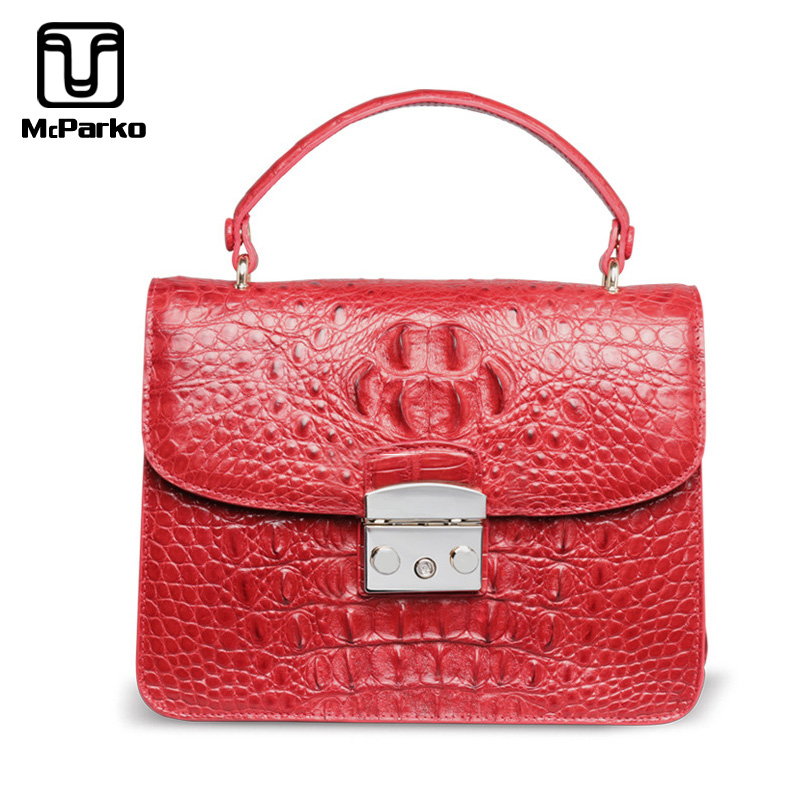 McParko Top Handle Handbags Genuine Leather Crocodile Shoulder Bags Women Fashion Chian Belt Bags Luxury Alligator Evening BagMcParko Top Handle Handbags Genuine Leather Crocodile Shoulder Bags Women Fashion Chian Belt Bags Luxury Alligator Evening Bag