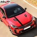 Для KIA Stinger Sport Stripes автомобильные наклейки на капот Авто Крышка двигателя декоративные наклейки водонепроницаемые гоночные стильные винило...