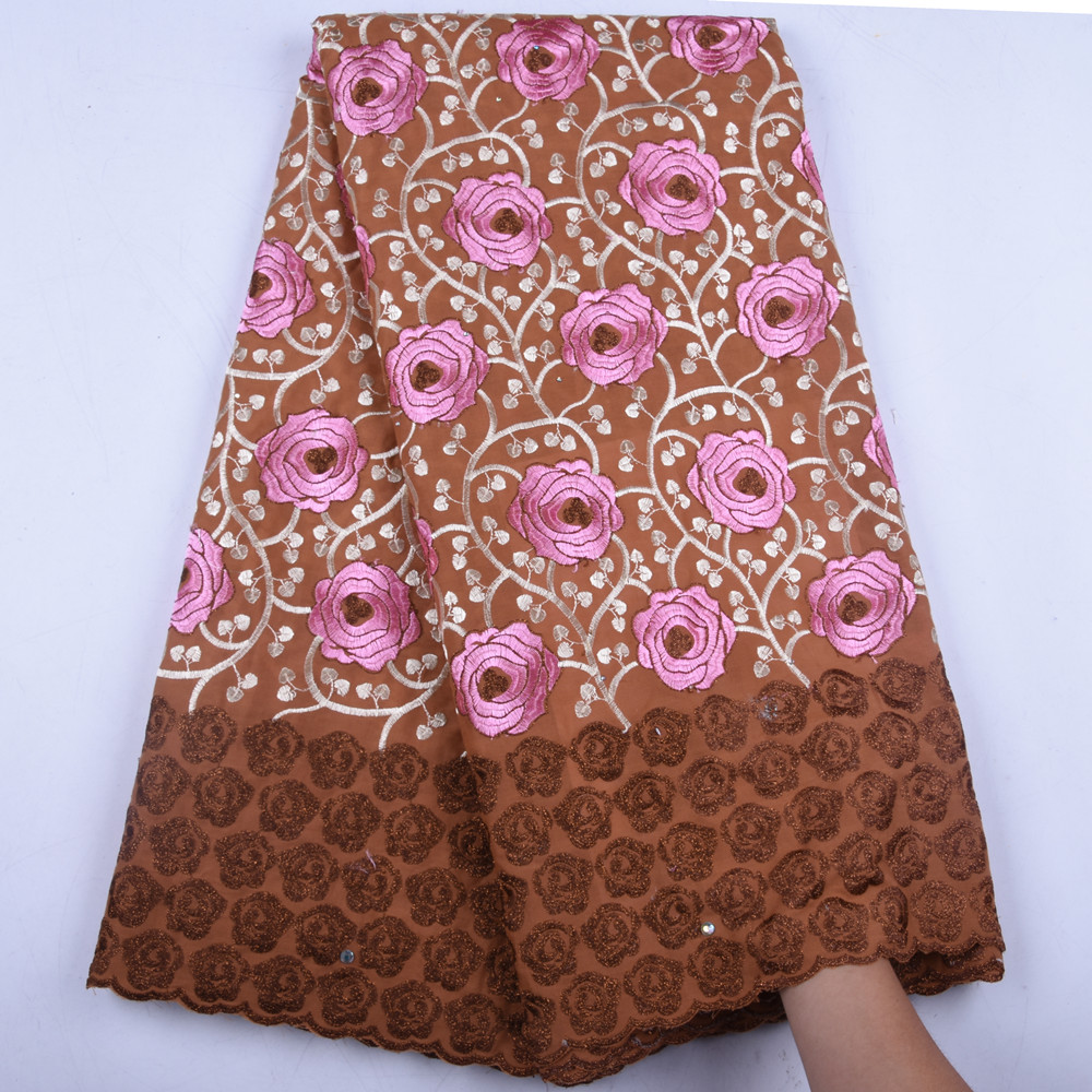 African French Swiss Voile Lace High Quality Cheap Voile Lace Fabric Nigerian Dry Cotton Lace Fabric