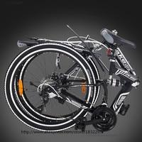 HOT Vouwfietsen 21 Speed 24 inch Aluminium Een Ronde Compleet Mountainbike voor Mens Womens Wit Kid'sBicycle