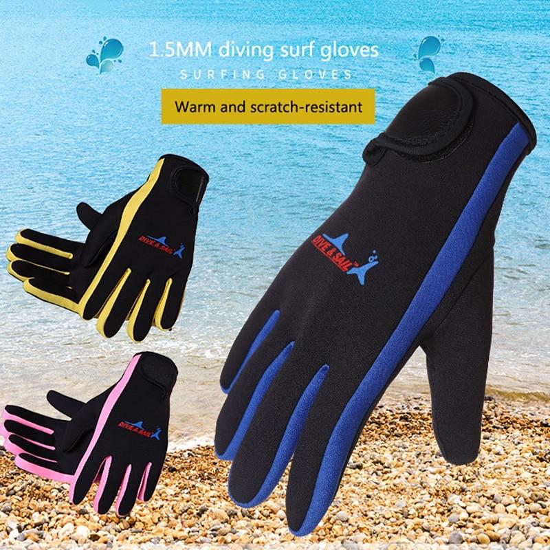 Women Men Swimming & Diving Gloves 1.5mm Neoprene Swimming Diving Gloves Anti-slip Warm Swimming Snorkeling Surfing Gloves