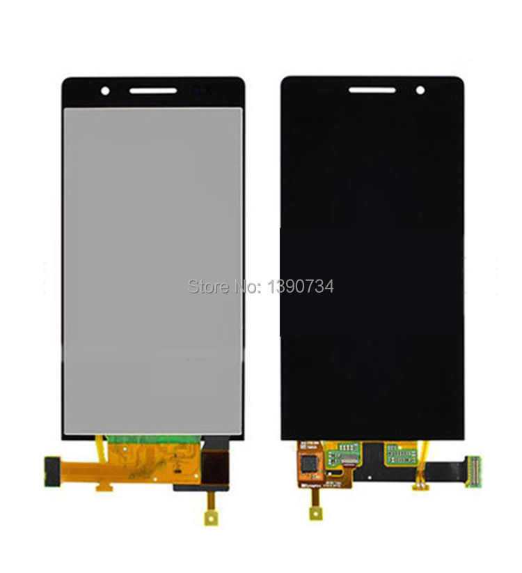 ФОТО Black/White/Pink ToP Quality Full LCD Display Touch Screen Digitizer Assembly For Huawei Ascend P6 Phone Sensor Replacement