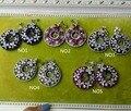 XC432 moda De Luxo 925 sterling silver colorido pedra Banhado cúbicos de zircônia brincos pequena sereia forma