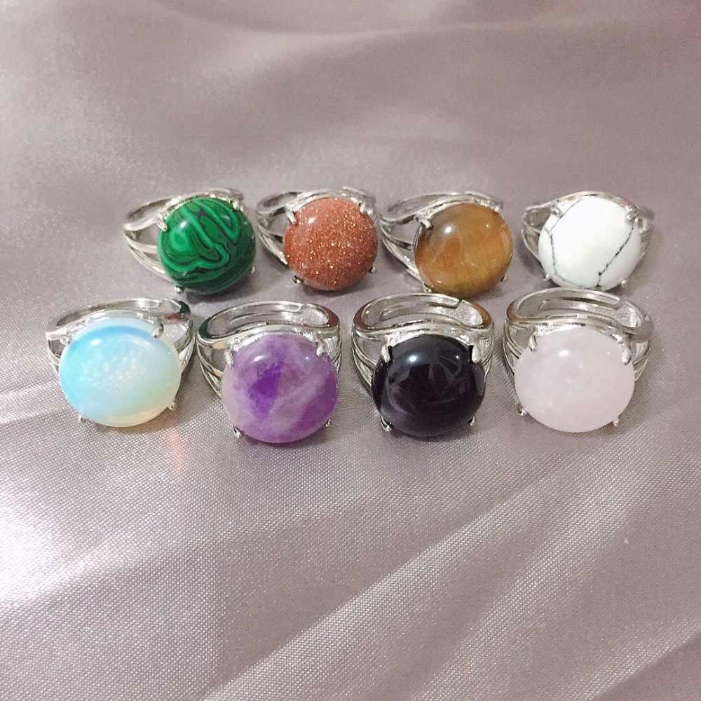 Envoltura de Alambre de Plata Esterlina Amatista simple anillo tamaño de piedras preciosas de piedra o