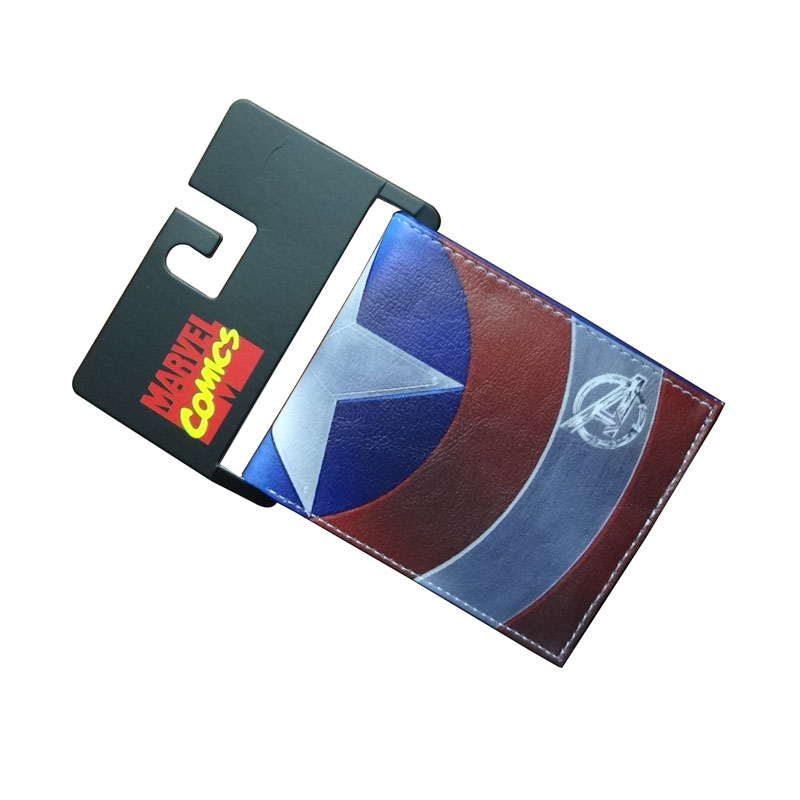 Comics Marvel Wallet Captain America Card Bags Famous Amine Cartoon Purse Leather Male Casual Branded Wallets