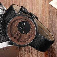 Мужские бамбуковые часы мужские s орехового дерева наручные часы оригинальный мужской Гладкий кожаный ремешок винтажные деревянные часы